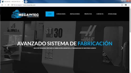 Web Trabajos realizados Mecaintec